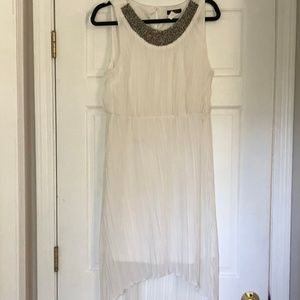 White High Low Dress Casual Semi-formal
